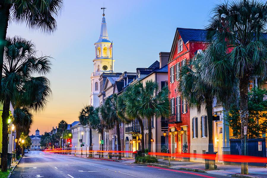 Charleston South Carolina at Sunset